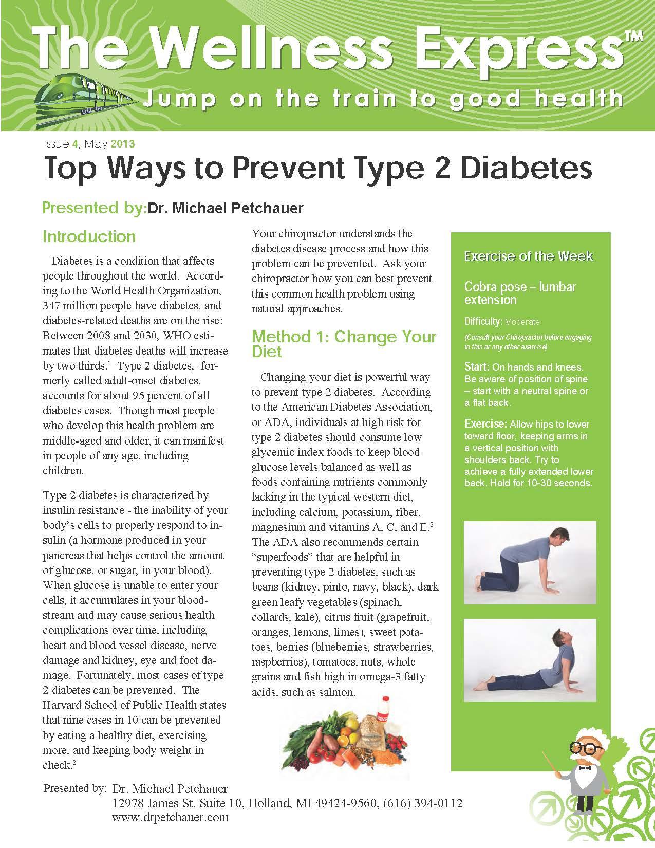 Top Ways to Prevent Type 2 Diabetes   Petchauer Chiropractic LLC ...